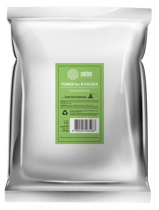 Тонер Cactus CS-TKY-10kg универсальный черный для принтера Kyocera (TK100)
