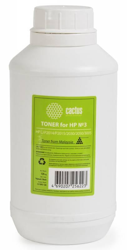 Тонер Cactus CS-THP3-120 черный для принтера HP LJ P2014/P2015/2030/2050/3005