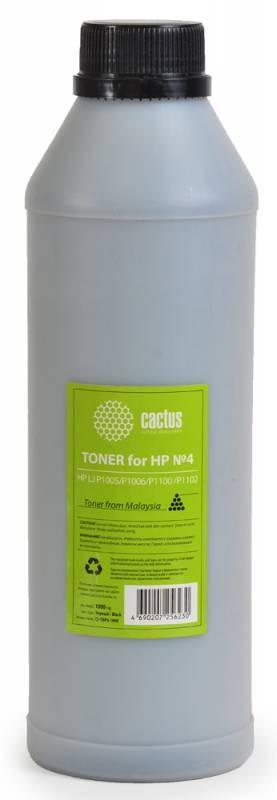 Тонер Cactus CS-THP4-1000 черный для принтера HP LJ P1005/P1006/P1100/P1102