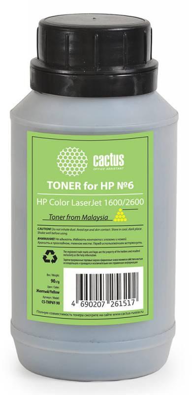 Тонер Cactus CS-THP6Y-90 желтый для принтера HP Color LaserJet 1600/2600
