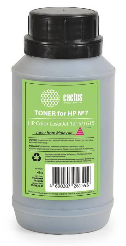 Тонер Cactus CS-THP7M-45 пурпурный для принтера HP Color LaserJet 1215/1615