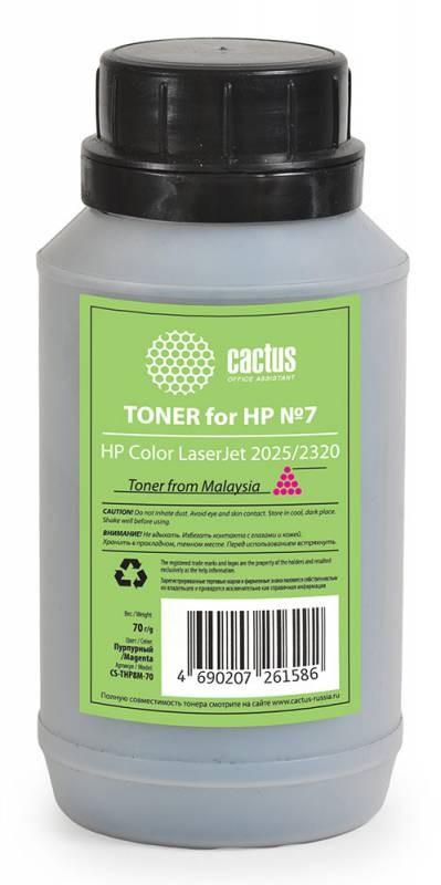 Тонер Cactus CS-THP8M-70 пурпурный для принтера HP Color LaserJet 2025/2320